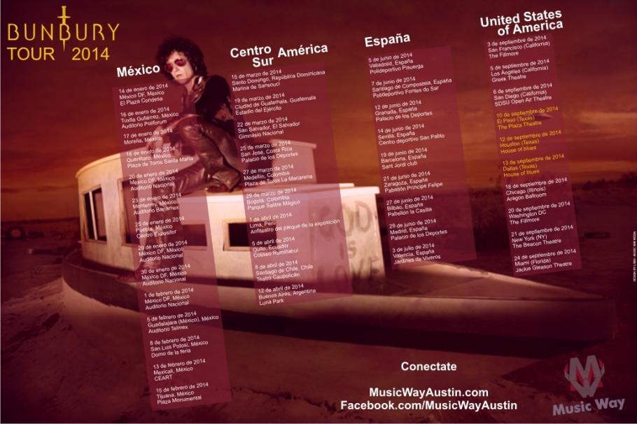 BUNBURY TOUR 2014 Music Way