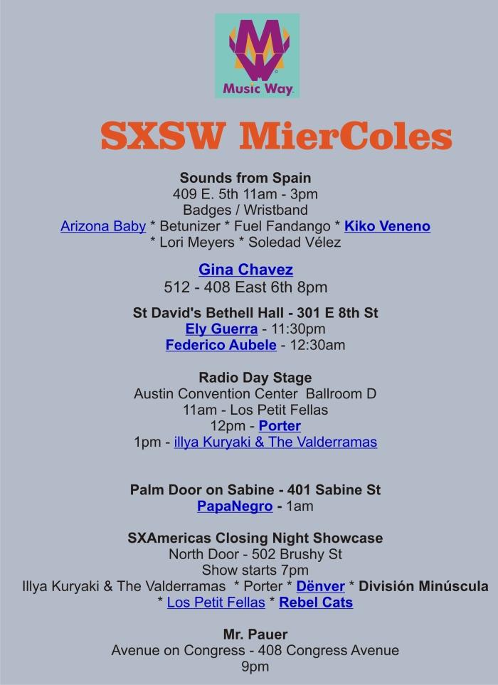 SXSW MierColes