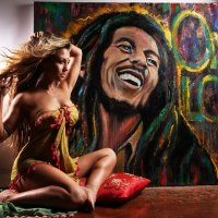 """""""One Love"""" Time-lapse painting of Bob Marley by Artist Robyn Chance"""