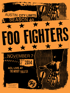 Foo Fighters Poster ACL season 40