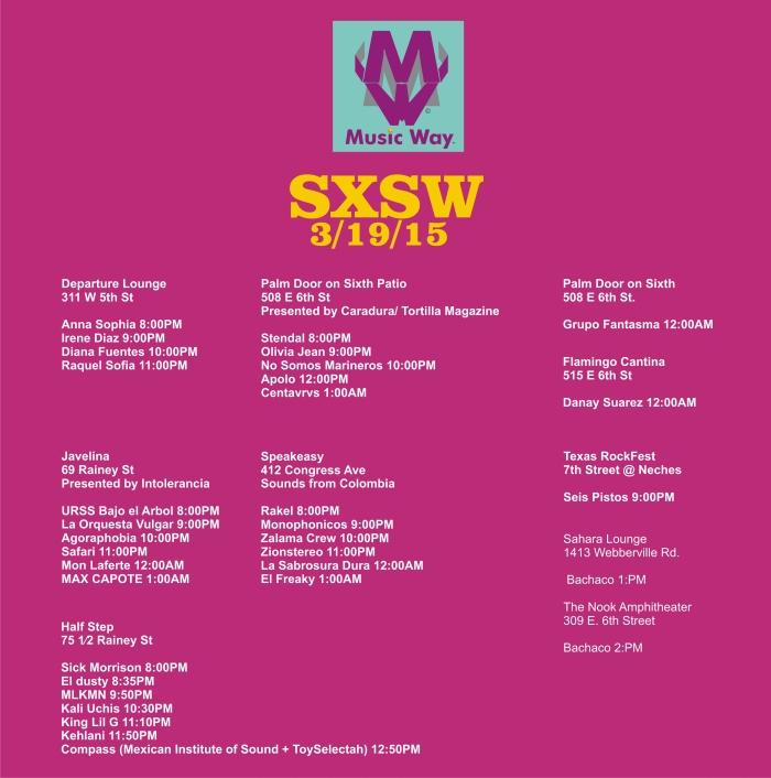 SXSW Jueves Latino shows