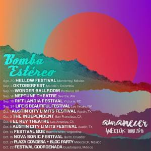 bomba estereo Amanecer tour