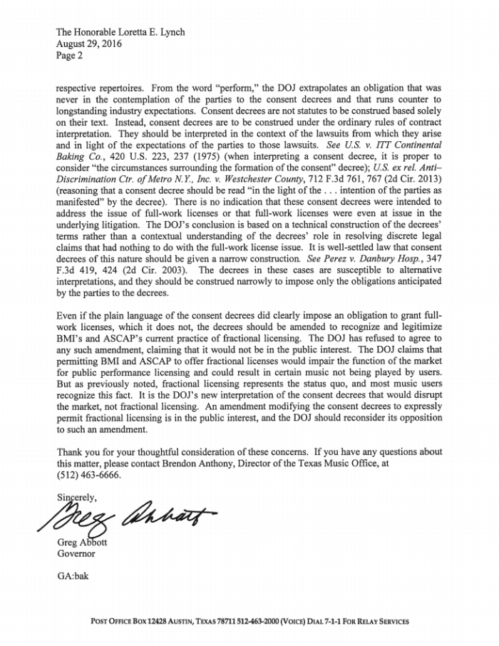 greg abbott letter to Lynch page 2