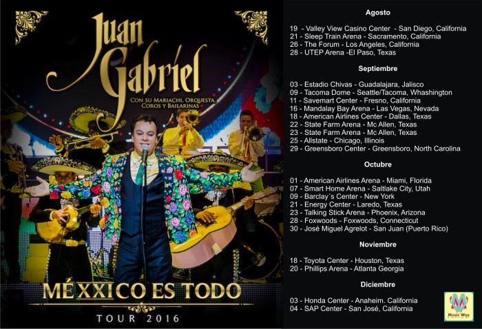 Juan Gabriel Mexxico Tour 2016 Music Way Latino